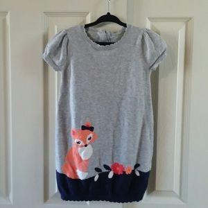 Gymboree Girls Fox & Flower Sweater Dress